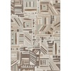Milliken Mix and Mingle 46-in x 64-in Rectangular Gray/Silver Geometric Area Rug