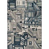 Milliken Mix and Mingle 46-in x 64-in Rectangular Blue Geometric Area Rug