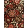 Milliken Mix and Mingle 46-in x 64-in Rectangular Red/Pink Floral Area Rug