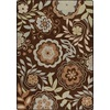 Milliken Mix and Mingle 32-in x 46-in Rectangular Brown/Tan Floral Accent Rug