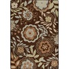 Milliken Mix and Mingle 46-in x 64-in Rectangular Brown/Tan Floral Area Rug