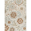 Milliken Mix and Mingle Ivory Rectangular Indoor Tufted Area Rug (Common: 7 x 10; Actual: 92-in W x 129-in L)