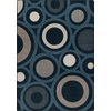 Milliken Mix and Mingle Blue Rectangular Indoor Tufted Throw Rug (Common: 3 x 4; Actual: 32-in W x 46-in L)