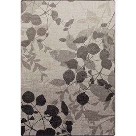 Milliken Mix and Mingle Rectangular Gray Floral Tufted Area Rug (Common: 4-ft x 6-ft; Actual: 3.83-ft x 5.33-ft)