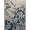 Milliken Mix and Mingle 46-in x 64-in Rectangular Blue Floral Area Rug