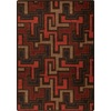 Milliken Mix and Mingle 92-in x 129-in Rectangular Red/Pink Geometric Area Rug