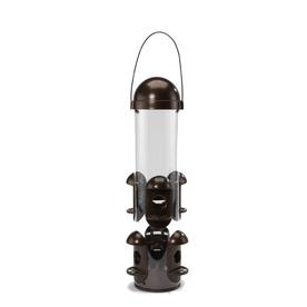 CedarWorks Plastic Squirrel-Resistant Hopper Bird Feeder
