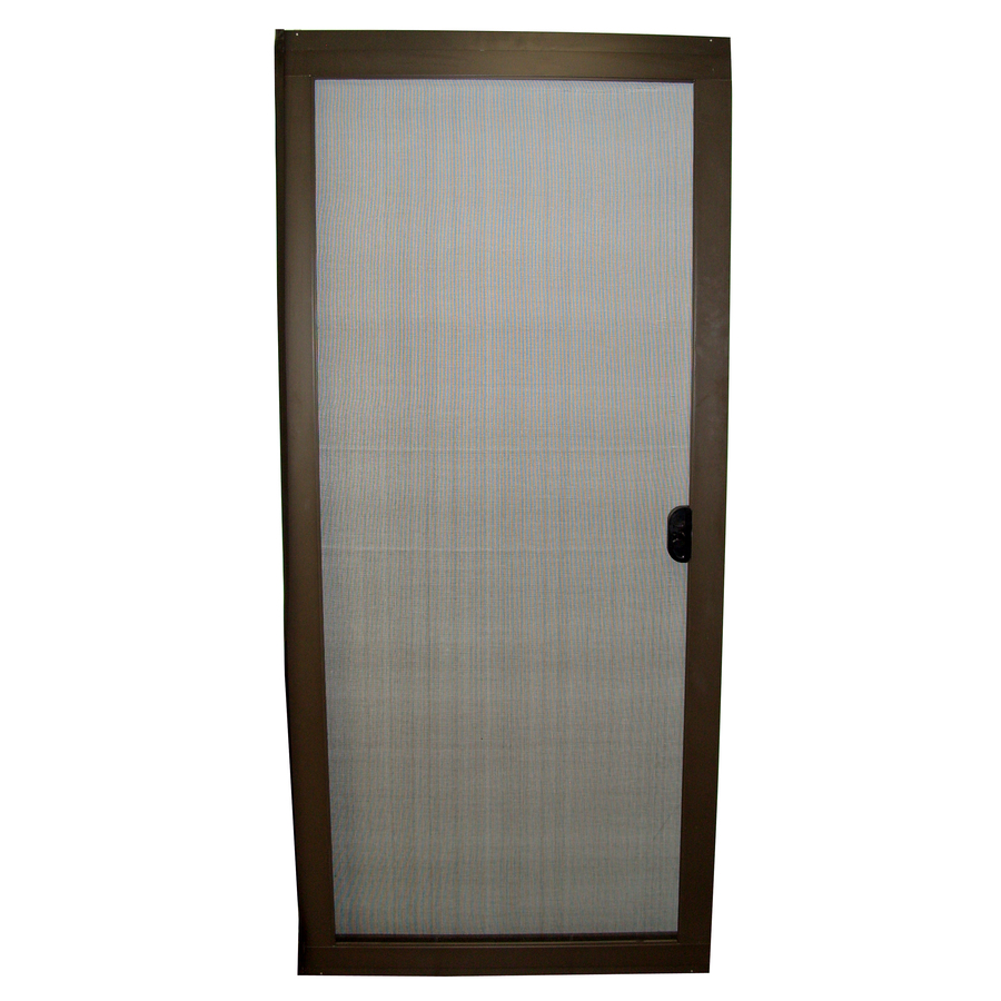 Shop ritescreen 36 in bronze aluminum screen door at for Aluminum screen doors
