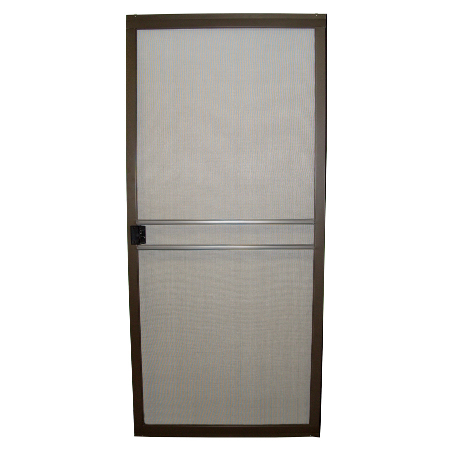 Security screen doors bronze security screen door for Storm door with screen