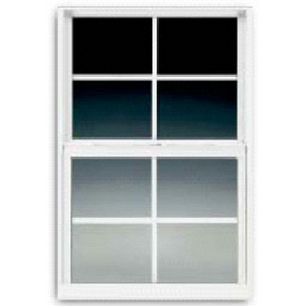 BetterBilt 3000TX Aluminum Double Pane Single Strength New Construction Egress Single Hung Window (Rough Opening: 36-in x 60-in; Actual: 35.375-in x 59.5625-in)