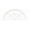 BetterBilt 32-in x 17-in 3000TX Series White Double Pane Half Circle Window