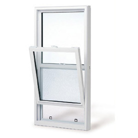 BetterBilt 3740 Series Aluminum Double Pane Single Strength New Construction Single Hung Window (Rough Opening: 37-in x 50-in; Actual: 37-in x 50-in)