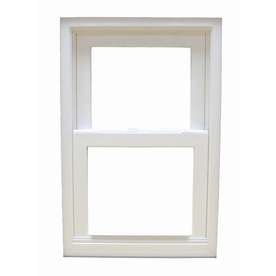 BetterBilt 185 Series Aluminum Double Pane Impact New Construction Egress Single Hung Window (Rough Opening: 36-in x 60-in; Actual: 35.375-in x 59.625-in)
