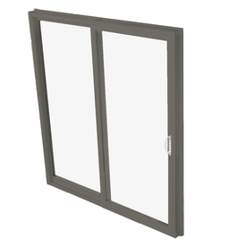 BetterBilt 570 Series 71.5-in Clear Glass Bronze Aluminum Sliding Patio Door with Screen