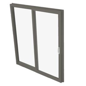 BetterBilt 570 Series 71.5-in Clear Glass Bronze Aluminum Sliding Patio Door with Screen