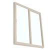 BetterBilt 390 Series 71.5-in Clear Glass Driftwood Vinyl Sliding Patio Door with Screen