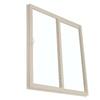 BetterBilt 390 Series 95.5-in Clear Glass Driftwood Vinyl Sliding Patio Door with Screen