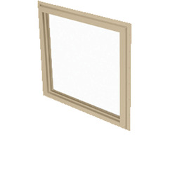 BetterBilt 60-in x 60-in 355 Series Driftwood Double Pane Square Picture Window