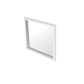 BetterBilt 36-in x 36-in 355 Series White Double Pane Square Picture Window