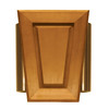 Heath Zenith Wired Door Chime With A Light Oak Stain Cover And Satin Bronze Side Tubes