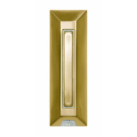 Heath Zenith Polished Brass Doorbell Push Button