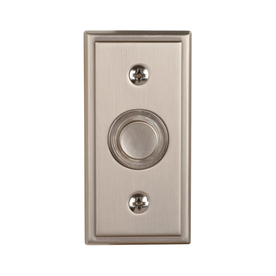Utilitech Satin Nickel Doorbell Button