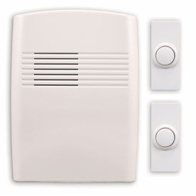 Utilitech Off-White Wireless Doorbell Kit