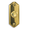 Heath Zenith Wired Polished Brass Push Button