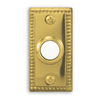 Heath Zenith Wired Polished Brass Push Button With Lighted Center