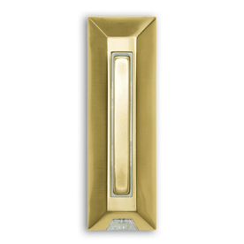 Heath Zenith Wired Polished Brass Push Button With Lifetime Finish and LED Halo-Lighted Center And Key Finder