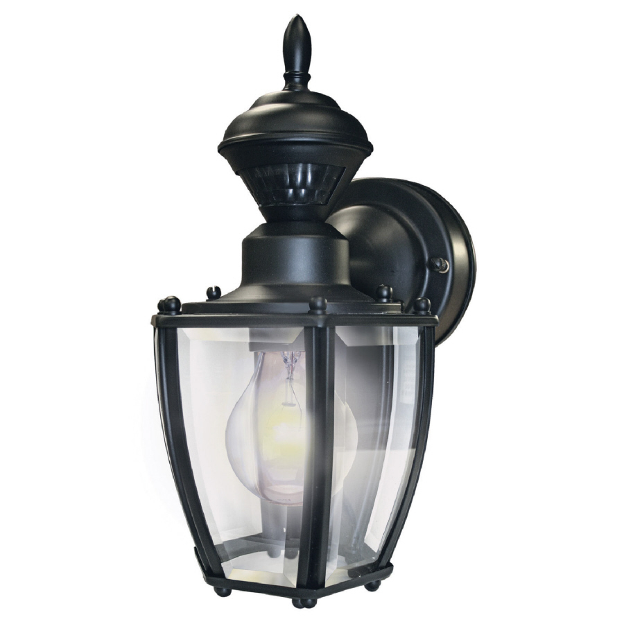 Outdoor Wall Light Fixtures Lowes : Shop Secure Home 11-in H Black Motion Activated Outdoor Wall Light at Lowes.com