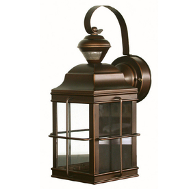 Secure Home New England Carriage 14.75-in H Antique Bronze Motion Activated Outdoor Wall Light
