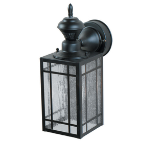 Secure Home Mission 14.25-in H Black Motion Activated Outdoor Wall Light