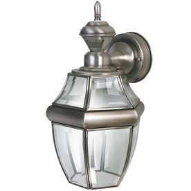 Secure Home 14-1/2-in Antique Silver Motion Activated Outdoor Wall Light