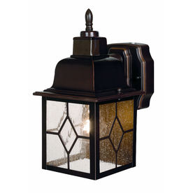 Secure Home Litshire 12-in H Antique Bronze Motion Activated Outdoor Wall Light