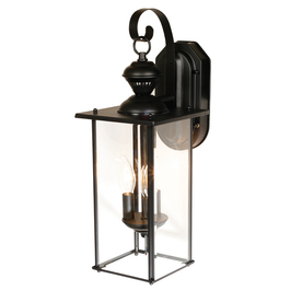 Secure Home 19-1/8-in Matte Black Motion Activated Outdoor Wall Light