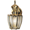 Secure Home 11-in Polished Brass Motion Activated Outdoor Wall Light