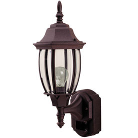Heath Zenith 18-1/2-in Rust Outdoor Wall Light