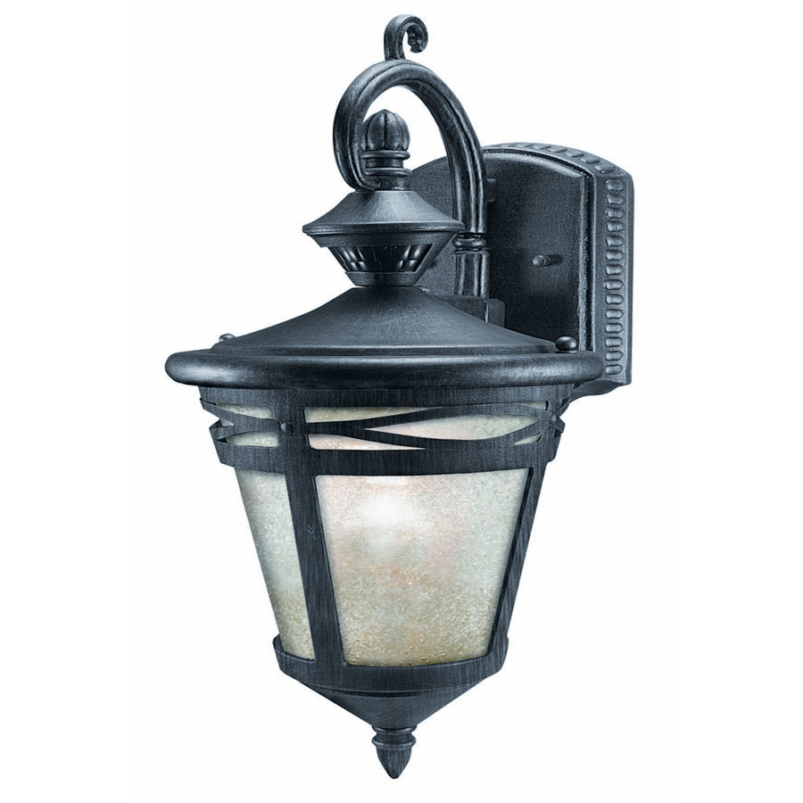 Shop Heath Zenith H Wrought Iron Motion Activated Outdoor Wall Light At