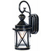 Secure Home 18-in Satin Black Motion Activated Outdoor Wall Light