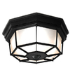 Secure Home 11.9-in W Black Motion Activated Outdoor Flush Mount Light