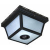 Heath Zenith 5-1/2-in Black Motion Activated Outdoor Wall Light