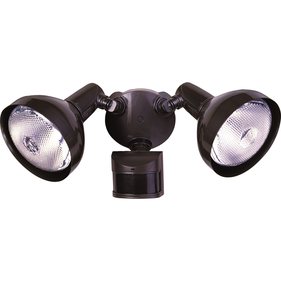 bronze halogen motion activated flood light with timer at. Black Bedroom Furniture Sets. Home Design Ideas