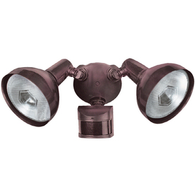 Secure Home 240° (Backyards)-Degree 2-Head Halogen Motion-Activated Flood Light Timer Included