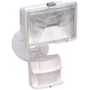 Secure Home 180-Degree 1-Head White Halogen Motion-Activated Flood Light Timer Included
