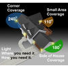 Utilitech 180-Degree 2-Head Black Halogen Motion-Activated Flood Light Timer Included