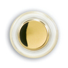 Heath Zenith Wired Polished Brass Push Button Insert With Lifetime Finish And LED Halo-Lighted