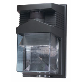Heath Zenith 180-Degree 1-Head Bronze Halogen Motion-Activated Flood Light with Timer