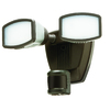 Secure Home 240-Degree 2-Head Dual Detection Zone Bronze LED Motion-Activated Flood Light with Timer