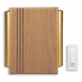 Heath Zenith Solid Oak with Natural Finish Wireless Doorbell Kit